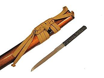 居合刀 梨地鞘 小柄付き 小刀◆模造刀 模擬刀 日本刀