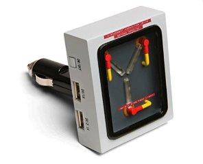 バック・トゥ・ザ・フューチャー デロリアン 次元転移装置 Flux Capacitor USB Car Charger 車載充電器 iPhone, iPad, Androido対応(並行輸入品)